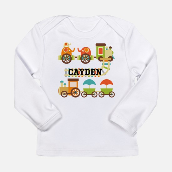 Personalized Train Long Sleeve Infant T-Shirt