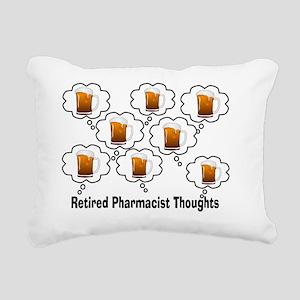 Retired Pharmacist Thoug Rectangular Canvas Pillow