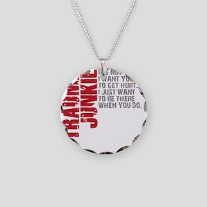 Trauma New DARK Necklace Circle Charm