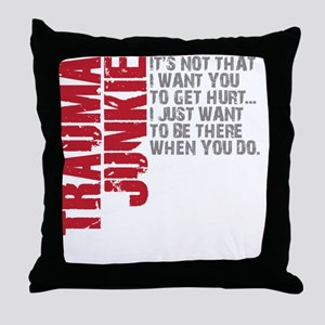 Trauma New DARK Throw Pillow