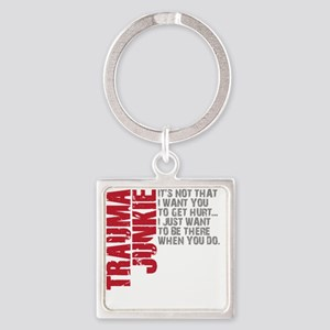 Trauma New DARK Square Keychain