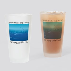 Gone Fishing Drinking Glass