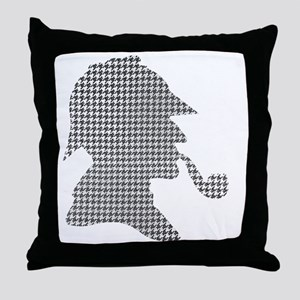 sherlock-holmes-Lore-M-fond-noir-1 Throw Pillow