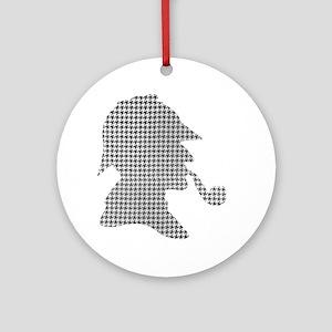sherlock-holmes-Lore-M-fond-noir-1 Round Ornament
