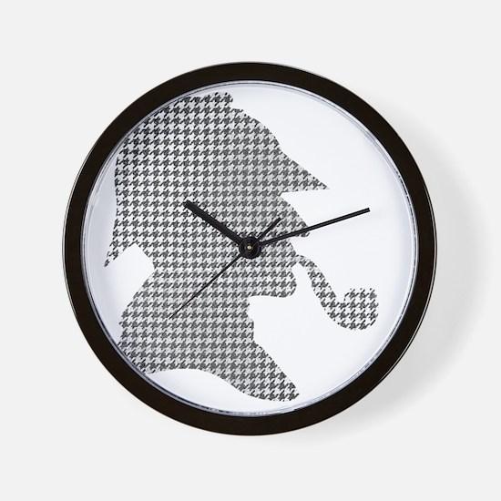 sherlock-holmes-Lore-M-fond-noir-1 Wall Clock