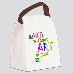 EarthWithoutArt Canvas Lunch Bag