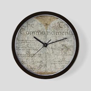 10 Commandments Wall Clock