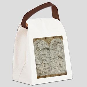 10 Commandments Canvas Lunch Bag
