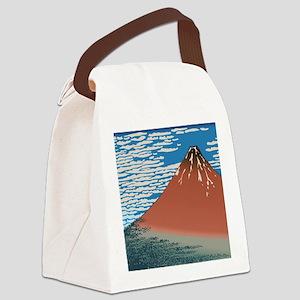 Hokusai_Red_FujiSC2 Canvas Lunch Bag