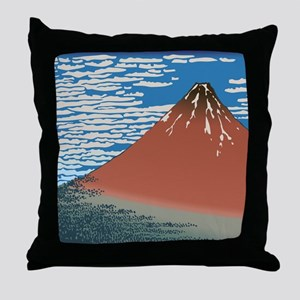 Hokusai_Red_FujiSC2 Throw Pillow