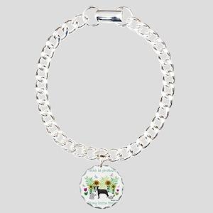 BostonTerrier Charm Bracelet, One Charm