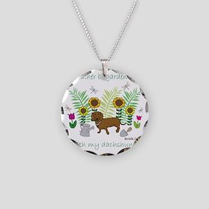 DachshundTan Necklace Circle Charm