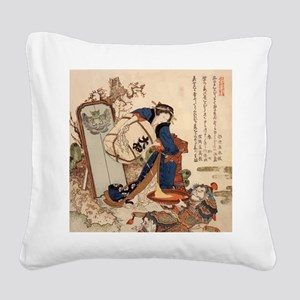 The_Strong_Oi_Pouring_SakeSC Square Canvas Pillow
