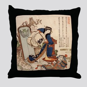 The_Strong_Oi_Pouring_SakeSC Throw Pillow