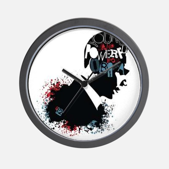 Young and Powerful for Obama Wall Clock