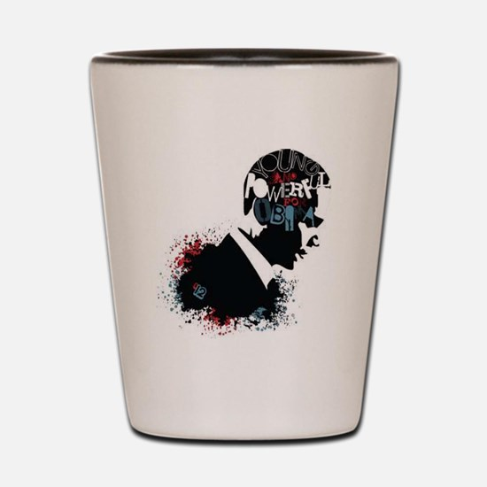 Young and Powerful for Obama Shot Glass