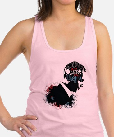 Young and Powerful for Obama Racerback Tank Top