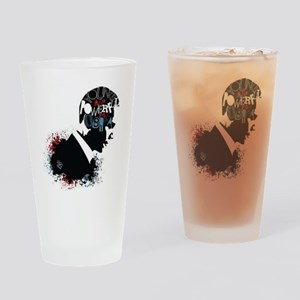 Young and Powerful for Obama Drinking Glass
