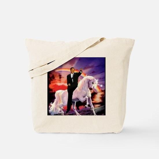 Obama on Unicorn Tote Bag