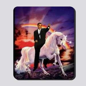 Obama on Unicorn Mousepad