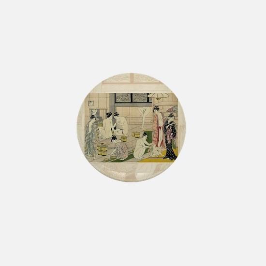 Kiyonaga_bathhouse_women-3SC Mini Button