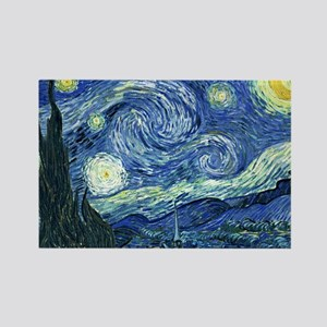 van gogh starry nightOriginal Rectangle Magnet