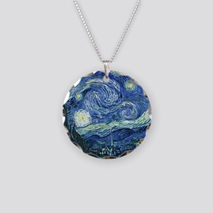 van gogh starry nightOrigina Necklace Circle Charm