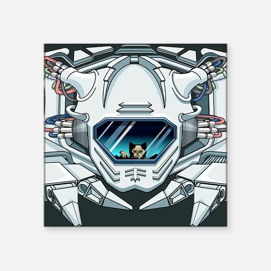 """robotfacempad Square Sticker 3"""" x 3"""""""
