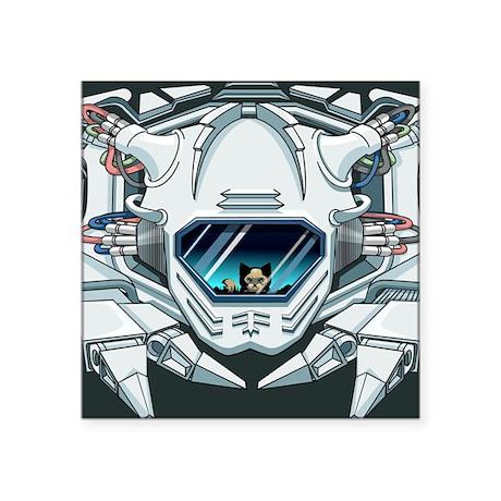 "robofaceLaptop Square Sticker 3"" x 3"""