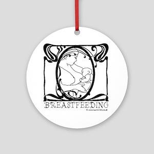 Breastfeeding Picture Round Ornament