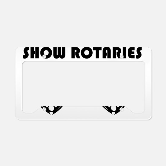 SHOWROTARIES License Plate Holder