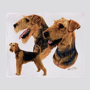 Airedale dark copy Throw Blanket