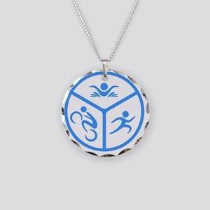 Tri1 Necklace Circle Charm