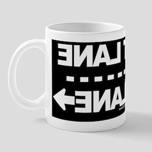 FASTLANE-YOURLANE-LicensePlate-black Mug