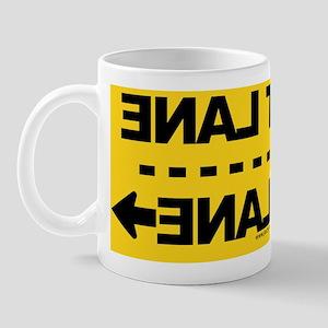 FASTLANE-YOURLANE-LicensePlate-YELLOW Mug