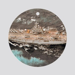 guam framed panel print Round Ornament