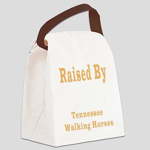 RaisedTWHBlackShirt Canvas Lunch Bag