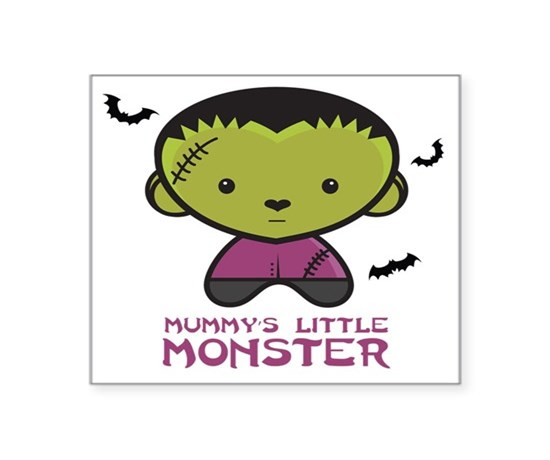 Mummys little monster plays square sticker 3
