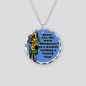 OBEDIENCE Necklace Circle Charm