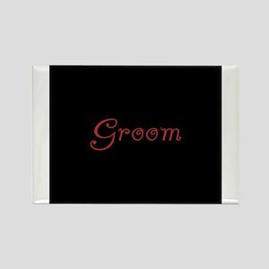 Groom - Red Flirt Rectangle Magnet