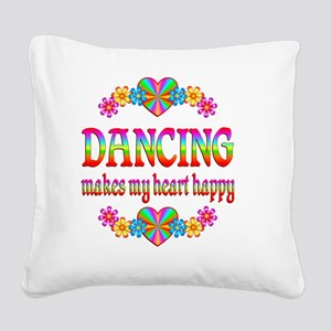 DANCING Square Canvas Pillow