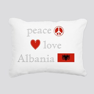PeaceLoveAlbania Rectangular Canvas Pillow