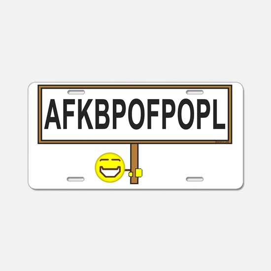 AFKB Sign In Prod-f-33 Aluminum License Plate