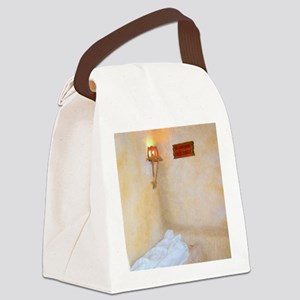 He Is Not Here - He Is Risen! Canvas Lunch Bag