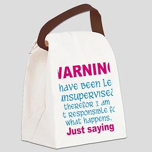 Left unsupervised Canvas Lunch Bag