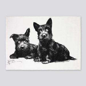 Scotties DOGS FINAL MASTER 5'x7'Area Rug