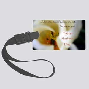 Tulip Mothers Day Card Large Luggage Tag