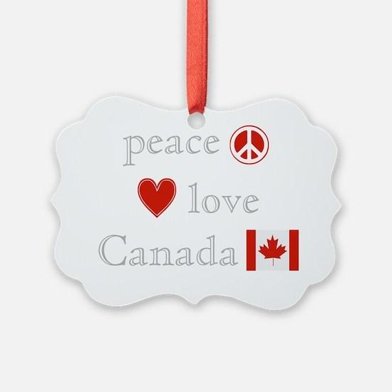 PeaceLoveCanada Ornament