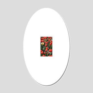 Yellow tulip 20x12 Oval Wall Decal