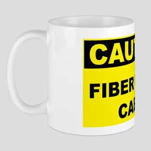 Caution-FIBER-OPTIC-CABLE Mug